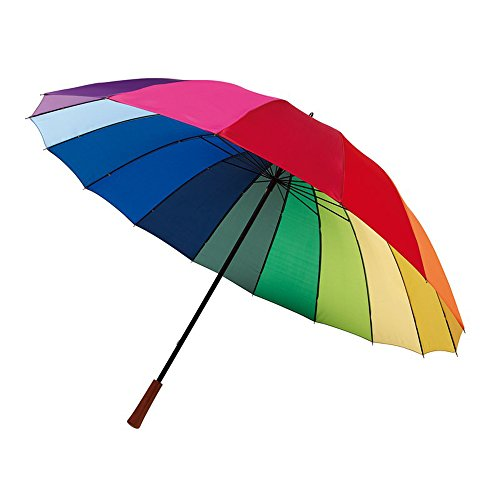 Golf pantalla Stock pantalla 16segmentos paraguas en colores del arco iris ø131cm