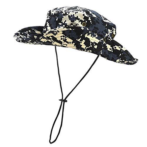 Sombrero al Aire Libre Sombrero de Pesca Transpirable protección UV Sombrero Plegable Escalada en Roca Sombrero de Verano Gorra-1x Color 11-One Size