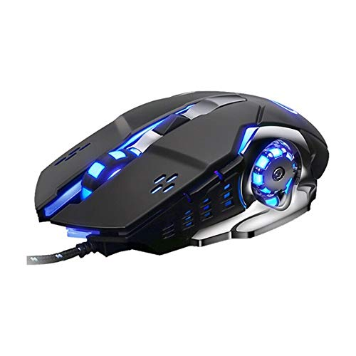 NLYWB Wired Gaming Mouse, Four Gear Dpl, Side Button, Custom Macro Programming, Adjustable Frequency, Suitable for Home Software Design, Etc, Size 5.5x3 Inch