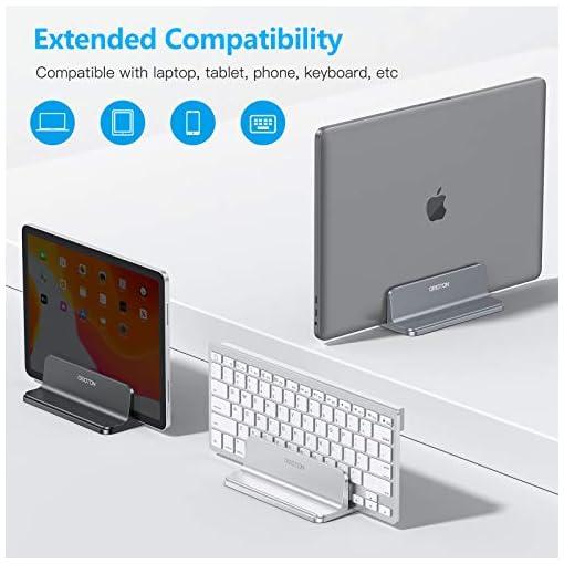 OMOTON Soporte Laptop, Atapta a Macbook Pro/Air, Huawei, DELL y Otros Portátiles y Netbooks, Vertical Soporte para… 4
