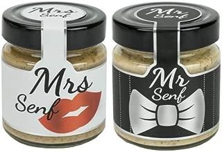 Altenburger Original Mr. & Mrs. Senf Set, 2x 180ml im Glas, mittelscharfer und süß-scharfer Senf, ideal für Paare zur Hochzeit