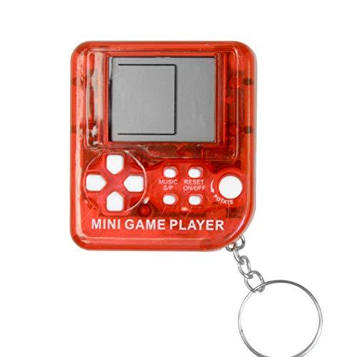 Elettronica Giocattoli Portachiavi Retro Mini Game Toy Macchina Giocatori Classici Tetris Console di Gioco Portachiavi Videogioco Portatile LCD Anti-Stress