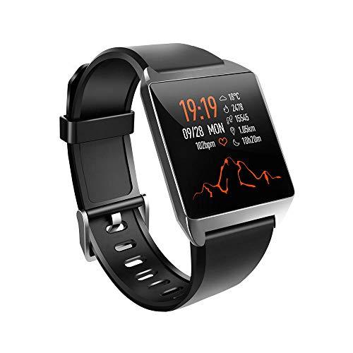 Yumanluo Smartwatch Impermeable,Pulsera multifunción de monitorización de la presión Arterial de frecuencia cardíaca en Movimiento, Color Negro,Monitores de Actividad,Fitness Tracker