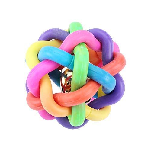 banapoy Juguetes de Pelota de Perro de Juego Profesional Resistentes al Desgaste, Juguete de mordedura de Mascota, Juguete de mordedura de Mascota de Bola de Campana Colorida, Lindo