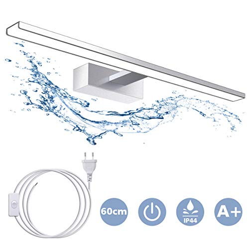 SOLMORE Lampe Miroir LED 60CM Applique LED IP44 15W...
