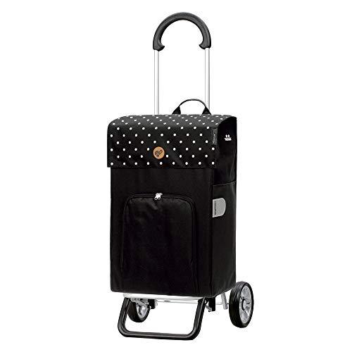 Andersen Shopper Scala Plus Alu klappbar mit Rad Ø 15cm und 45 Liter Tasche Malit mit Kühlfach schwarz