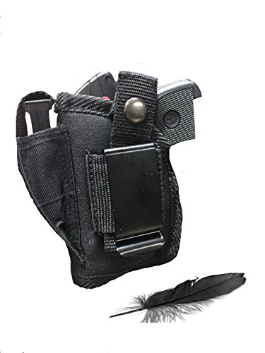 Fits Ruger LCP 380 with Laser Soft Nylon Inside or Outside The Pants Gun Holster.