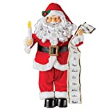 Collections Etc Animated Musical Santa with Naughty & Nice List Tabletop Figurine Christmas Decoration