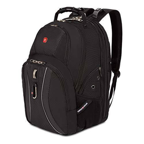 SWISSGEAR 1270 ScanSmart Laptop Backpack | Fits Most 17 Inch Laptops and Tablets | TSA Friendly Backpack | Ideal for Work, Travel, School, College, and Commuting - Black