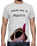 The Fan Tee Camiseta de Hombre Divertidas Funny Graciosa Pinocho 017 L