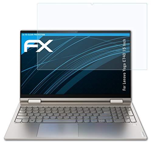 atFolix Schutzfolie kompatibel mit Lenovo Yoga C740 15 Inch Folie, ultraklare FX Bildschirmschutzfolie (2X)