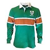 Celtic Clothing Co Irish St.Patrick's Day Rugby Shirt - Green Orange, Large