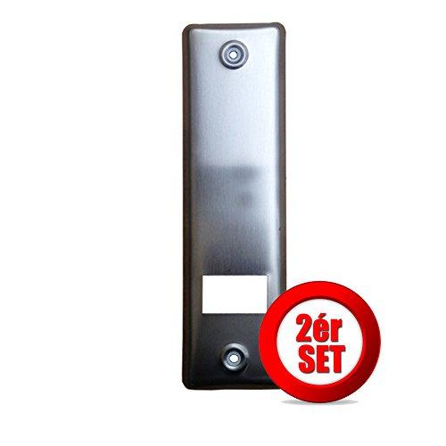 2er SET Gurtwicklerblende, Blende für Gurtwickler, Edelstahl, mit Gurtausbau LA 160mm