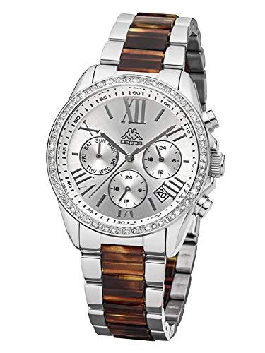 Kappa Damen Analog Quarz Uhr mit Edelstahl Armband KP-1413L-C
