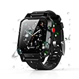 Apple Watch Series 6 5 4 SE 44mm Case Waterproof, iWatch Series 4 5 6 SE Case 2020 New Apple Watch Bands Case Shockproof Dustproof Rugged Full Protection Case (Black 44mm)