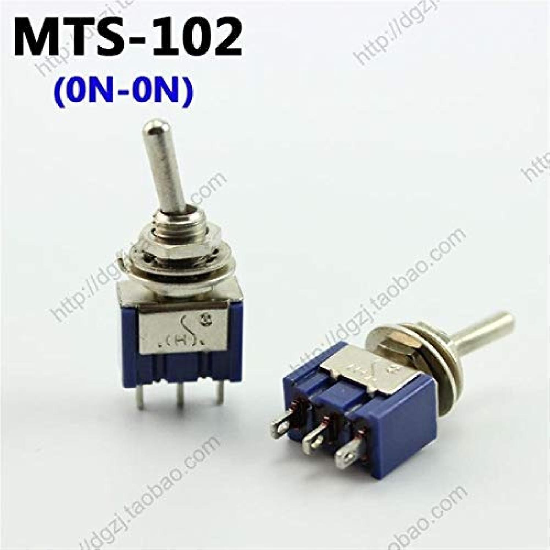 50pcs CHS 3 Pin   6 Pin MTS-102 MTS-103 MTS-202 MTS-203 Toggle Switch 6A 125VAC(color  MTS-102 ON-ON)