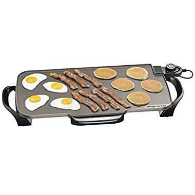 Presto 22-inch Ceramic Electric Griddle with removable handles