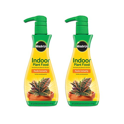 Miracle-Gro Indoor Plant Food (Liquid), 8 oz., Instantly Feeds All Indoor Houseplants Including Edibles, 2-Pack