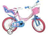 Dino Bikes 144R-PIG Peppa Pig Buscando a Dory, Bicicleta para niños, Color Rosa