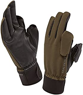 SEALSKINZ 100% Waterproof Glove - Windproof & Breathable, Magnetic Convertible Trigger Finger and Thumb Suitable for Photography, Fishing, Shooting, Hunting and Activities in All Weather Conditions