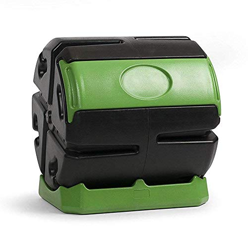Hot Frog FCMP Outdoor 37 Gallon Chamber Quick Curing Rolling Compost Tumbler Bin for Soil
