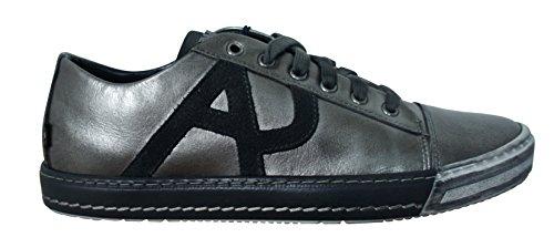 Armani Jeans - Basket Armani Jeans B658042 argentée - B658042 argentée - 44, Gris