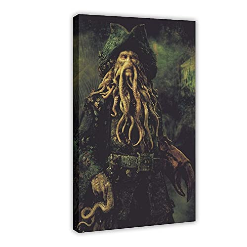 Póster de la película piratas del Caribe 5 en lienzo para decoración de la sala de estar, dormitorio, marco de 60 x 90 cm