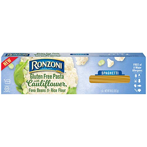 (3) 10 oz boxes RONZONI GLUTEN FREE SPAGHETTI pasta with cauliflower, fava beans & rice flour: Vegan; Kosher; 8 Allergen Free