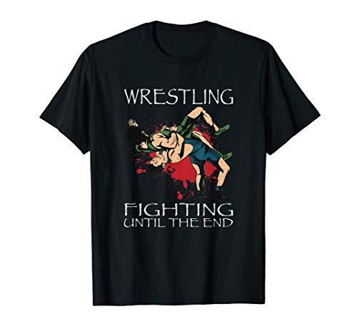 Wrestling Fight. Ringen bis zum Ende. Wrestler Ringertrikot T-Shirt