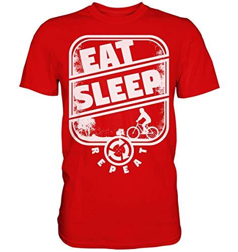 GREG PINE Eat Sleep Repeat Mountainbiking Mountainbike MTB Fahrradfahren Radfahren Motiv T-Shirt