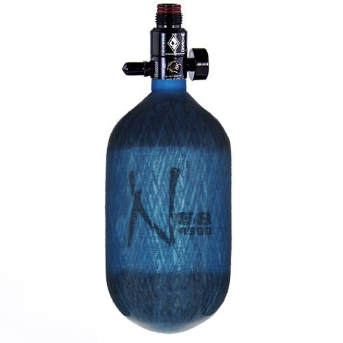 Ninja Carbon Fiber HPA Tank - 68/4500 - Adjustable Reg - Translucent Blue