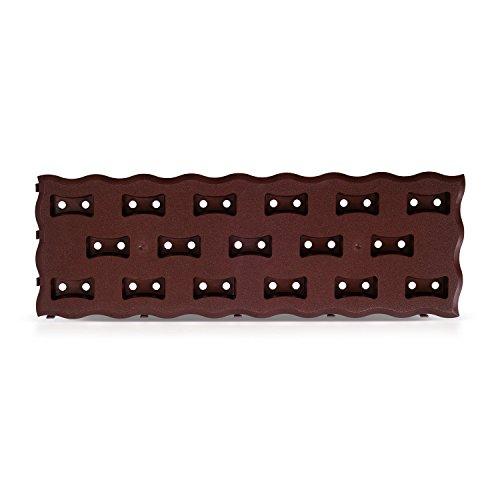 0,95m² GEHWEGPLATTEN (8 Stück) Rasengittersteine Kunststoff Beetplatten Terassenplatten
