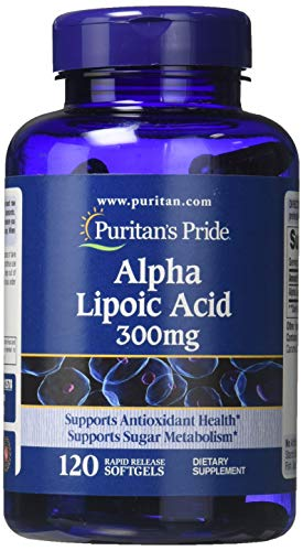 Alpha Lipoic by Puritan's Pride, Supports Antioxidant Health, 300mg, 120 Rapid Release Softgels