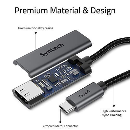 Syntech USB C auf HDMI Adapter, Thunderbolt 3 auf HDMI Adapter, kompatibel mit MacBook Pro 2019 / 2018 / 2017, MacBook Air 2020, iPad Air 4, iPad Pro 2020, Samsung Galaxy S10 / S9, Dell XPS 13 / 15