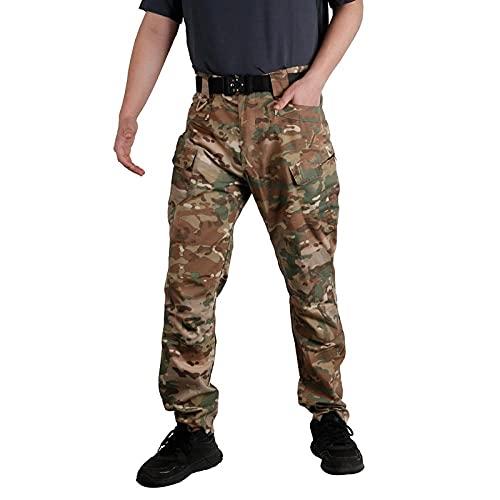 Eteyteay Pantalones de Hombre de Moda Pantalones de Camuflaje para Hombre Pantalones de Hombre Pantalones Cargo Casuales Multibolsillos Chándal Chándal Ropa de Hombre-B_XL