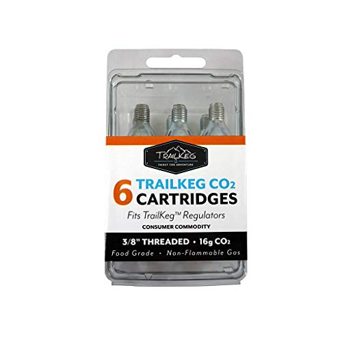TrailKeg - 6-Pack 16g Threaded Food Grade CO2 Cartridges