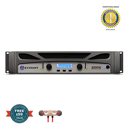 Purchase Crown XTi2002 Two-channel, 800W at 4Ω Power Amplifier includes Free Wireless Earbuds – Stereo Bluetooth In-ear and 1 Year Everything Music Extended Warranty