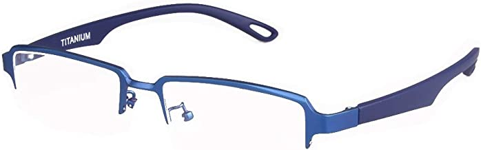 Titanium Glasses Men Non-prescription Eyeglasses Women Lightweight Business Maturity Eyewear Frames