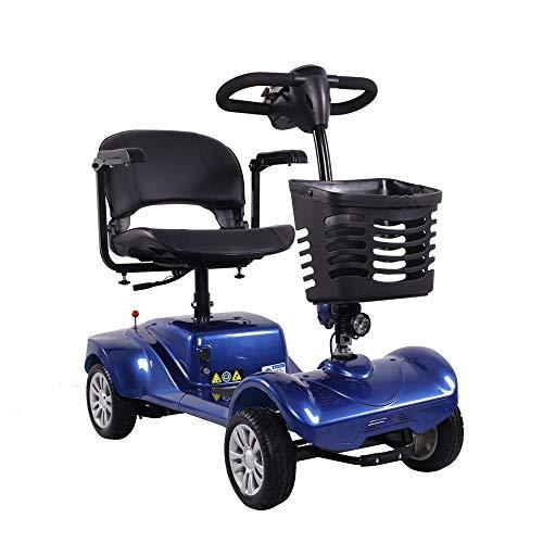 Scooter con Cesta - Drive Medical Scooter Eléctrico - Scooter de Movilidad Transportable - Scooter Eléctrico de 4 Ruedas para Adultos