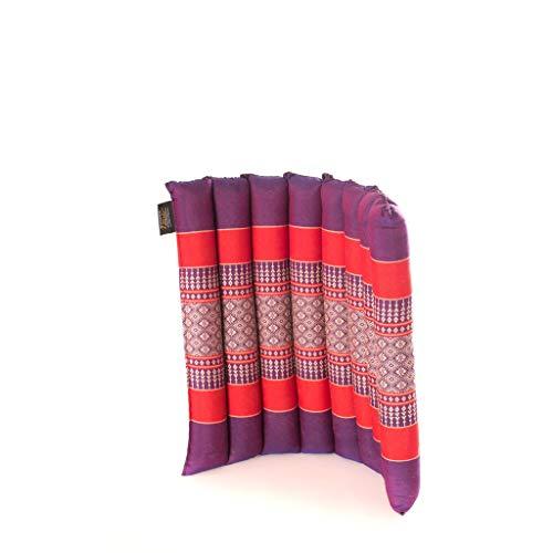 Zafuko Small Rollable Flat Meditation and Yoga Cushion - Purple/Red