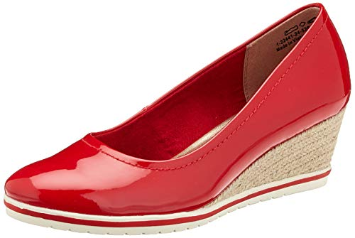 Tamaris Damen 1-1-22441-24 Pumps, Rot (Chili Patent 520), 39 EU