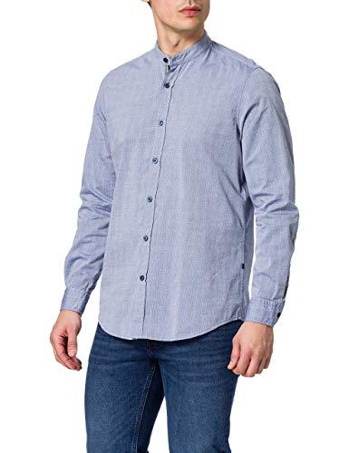 BOSS Race Camisa, Azul Marino (414), L para Hombre