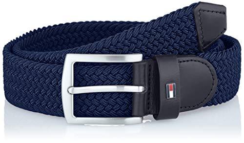 Tommy Hilfiger Denton Elastic 3.5 Cinturón, Azul (Sky Captain Cjm), 115 (Talla del fabricante: 110) para Hombre