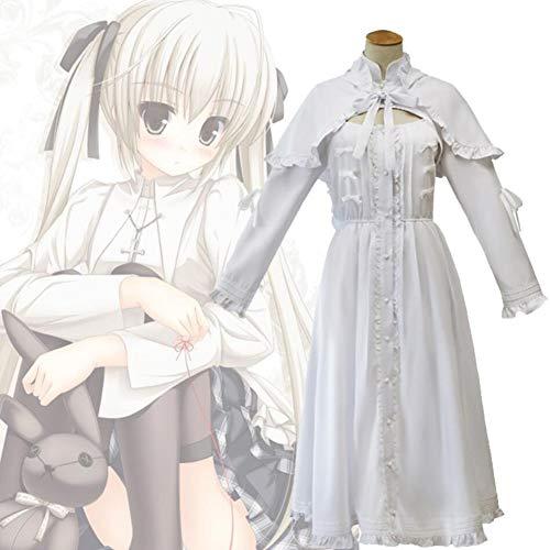 PAOFU-vrouwen Lolita Maid jurk Uniform Cosplay kostuum, in eenzaamheid waar we zijn minst alleen Kasugano Sora Cosplay Halloween partij kostuum