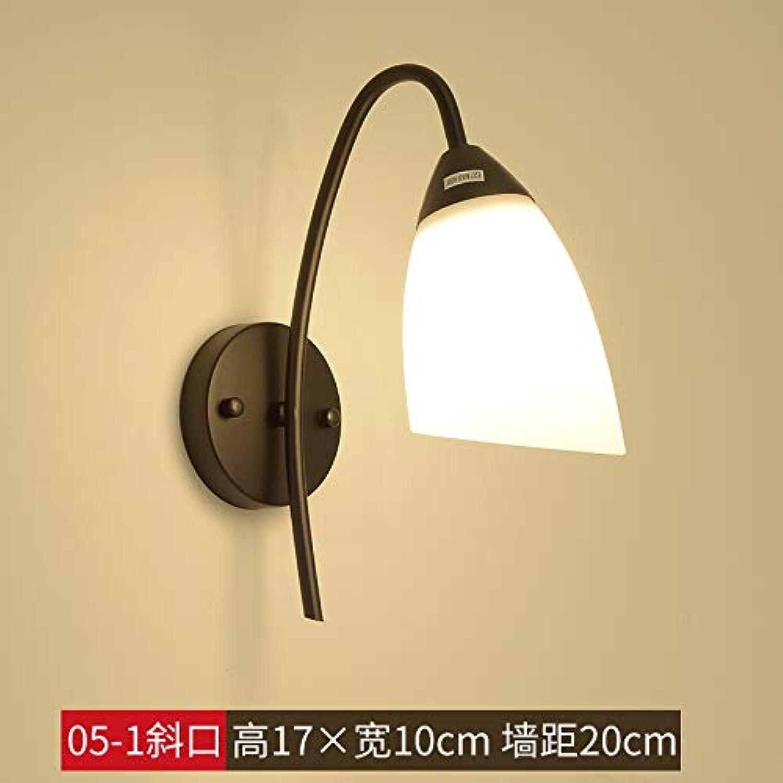 Moderne Schlafzimmerwandlampe Nachttischlampe kreative koreanische japanische Gasse des Korridortreppenhauses der hlzernen Wandbeleuchtung des festen Holzes, XC05-1 schrge 9-Watt-Birne