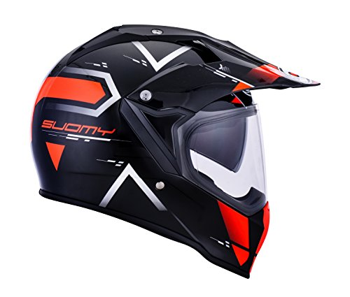 Suomy KSME0006.2 Motorradhelm, Integralhelm, Enduro/Trail Mx Tourer, Orange