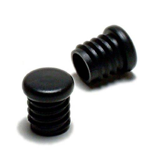 D2O Velo Griff Kunststoff Plugs Endkappen–Schwarz