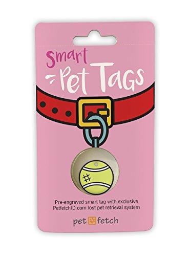 Petfetch Smart ID Pet Tag (Tennis Ball)