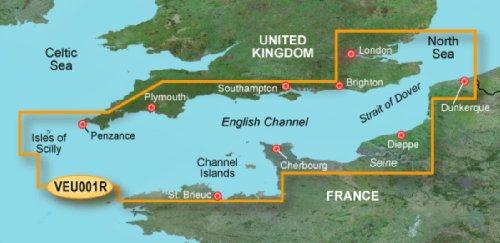 Garmin BlueChart g3 Vision Seekarte Region Europa, Abdeckungsbereich VEU001R - Ärmelkanal, Kartengröße Regular