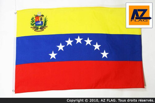 AZ FLAG Bandera de Venezuela Antigua con Escudo 90x60cm - Bandera VENEZUELANA con Armas 60 x 90 cm